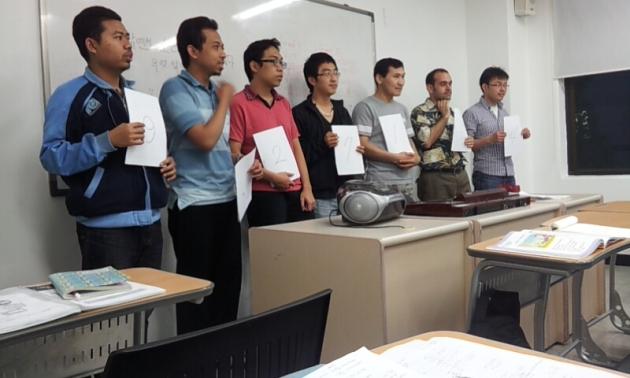 Belajar menyusun dan menghapal angka Korea :D