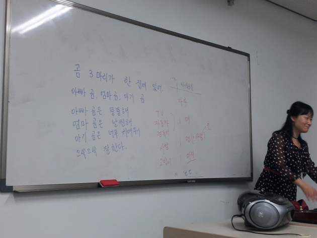 Our pretty-nice-attractive Korean Language Teacher :)