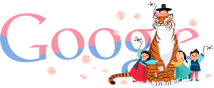Google Doodle 2012-08-15 for Korea Independence Day