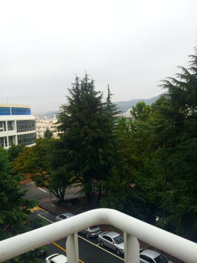 Tenang aja, saya gak segitu desperate-nya kok sampe harus loncat dari teras lantai 3 gedung ini :p