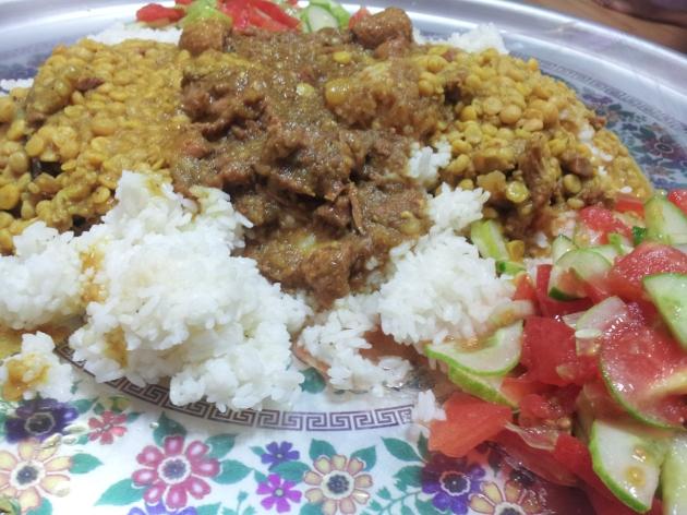 Nasi gulai kacang Arab ala Bangladesh :9