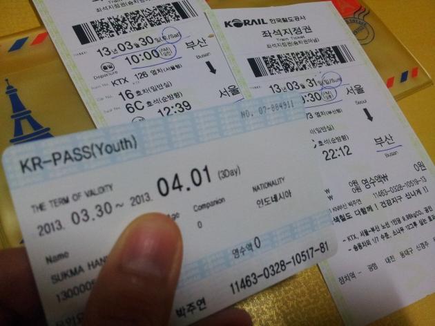 Kartu KR PASS dan tiket KTX