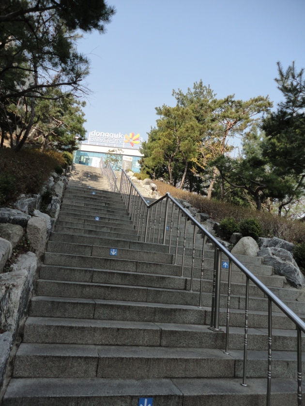 The 50-step stairs of Donguk University